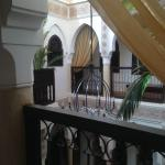 The balcony looking facing into centre of Riad