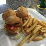 Buffalo sliders and hamburger sliders. Tasty!