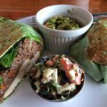 Asian Chicken Wrap Greens and Soba Noodles