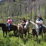 Horseback ride through the mountains