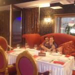 magnificient couple in dining room