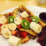 This is the Floridian French Toast with a side of turkey bacon. Delicious!
