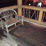 Front porch.. dirty chairs