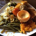 Sunday roast - very tasty and well cooked!