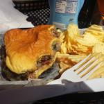 My very tasteless grease burger