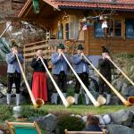 The traditional Alphorn in play