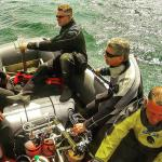 Bow end with 10 divers  including 1 x twin set aboard.