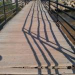 Weg zum Strand über eine *Brücke*