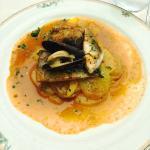 Trilogie dieppoise au beurre de soupe de poissons