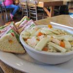Club Sandwich with Soup