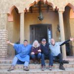 The staff at Riad Nezha were outstanding. Our Waiter poses with my friends Wendy, Michael and St