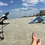 beach is hard sand