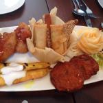 Mixed starter plate - yummy