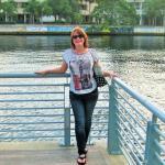 My hot wife on Tampa Riverwalk