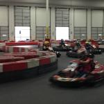 Racing around the track!