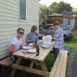 We took our excellent takeawat back to the caravan in Mawgan Porth and it was still piping hot!