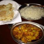 Allu gobi with rice and naan!