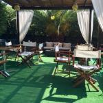 "The ""aperitivo"" and outdoor breakfast area- very cozy!"