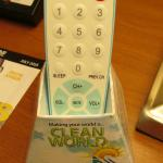 Easy-clean remote