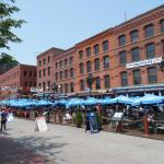 Boardwalk Front Sea of Blue Umbrellas