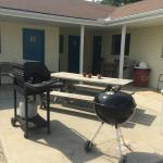 outside grilling area for guests