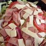 Artfully arranged salad!