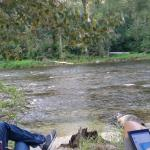 Relaxing by the Granby river