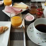 Breakfast in the indoor dining room