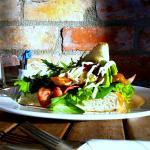 Cranberry Chicken Sandwich & Salad