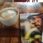 Cappuccino and bike magazines