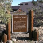 Salmon Ruins Sign