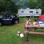 Single mother camping with children and dogs. No one's perfect. I'd go again