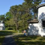 移築された灯台が大切に保存されています。