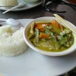 Delicious hot & spicy Thai Green Curry at Lek's