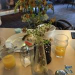 """Pretty"" Flowers during breakfast"