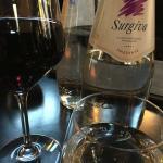 Vino und Wasser...