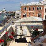 Having breakfast al Terraza, Venice waiting for us