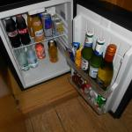 Mini fridge/bar.