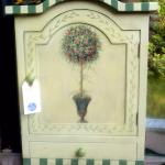 HAND PAINTED FRENCH STYLE CABINET $45.00