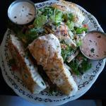 Grilled halibut salad! Fantastic flavor!