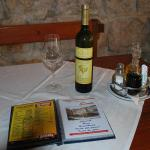dinner at Doris Restaurant with a bottle of Posip
