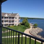 Third floor suite, beautiful water views, patio, full kitchen and dining.