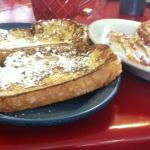 Huge french Toast with a side of bacon