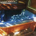 The Jacuzzi in the back of the cabin