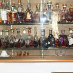 Selection of cognacs in the bar