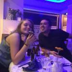 Greek Nephew dining with girlfriend