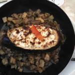 Stuffed eggplant, delicious!
