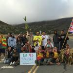 protesters block road to summit