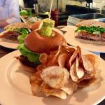 Hamilton's Burger. Gruyere, bacon, lettuce. Roasted shallot and creme fraiche.