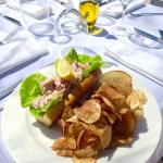 Our famous Lobster Roll. House-made potato chips.